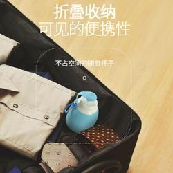 硅胶折叠户外水杯便携软水瓶随手杯旅行杯子 学生大容量运动水壶图片