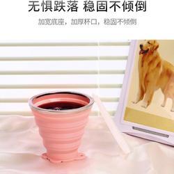 硅胶折叠水杯便携式 旅行迷你手提伸大容量缩杯子 创意喝水杯图片
