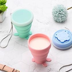 日本硅胶折叠杯 旅行户外便携漱口喝水杯子 出差创意洗漱可伸缩杯