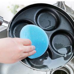 厨房多功能硅胶洗碗刷 百洁布碗碟擦刷洗锅刷清洁抹布抖音同款图片