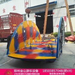 適合廟會趕集炫彩游樂設備簡易折疊旋轉木馬圖片