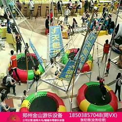 儿童四人飞天蹦极可折叠蹦极游乐设备图片