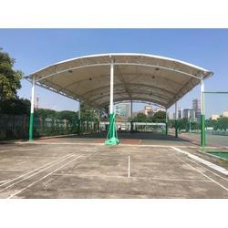 膜结构篮球场 张拉膜羽毛球场图片