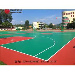 硅PU篮球场施工建设及塑胶篮球场材料生产建设厂家图片