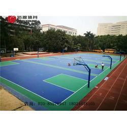 硅PU篮球场专业施工建设及塑胶篮球场材料生产厂家图片