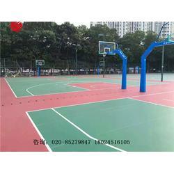 新国标硅PU塑胶篮球场专业施工建设材料生产厂家图片