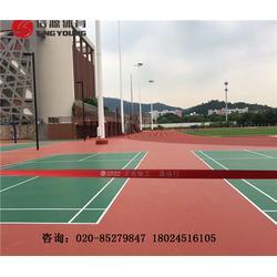 硅PU篮球场及塑胶跑道材料报价图片