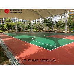 篮球场专业施工建设及篮球场材料厂家图片