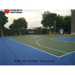 丙烯酸篮球场准也施工建设及丙烯酸球场建设厂家图片