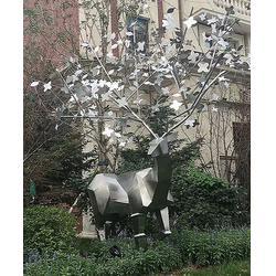 辽宁不锈钢雕塑制作厂家-吉林供应不锈钢雕塑图片