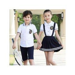 上海小学生夏季校服-柏利斯服饰供应新品小学生夏季校服图片