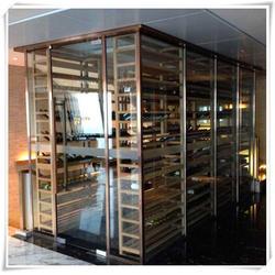 湖州不锈钢酒柜-花玄屏-不锈钢酒柜空调图片