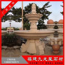 石雕水钵 装饰水珐双层水钵 石雕喷水池 跌水钵图片