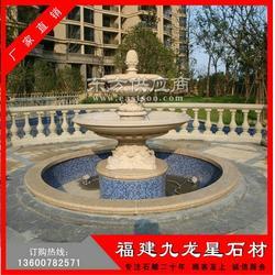 石雕水钵 砂岩水钵 水钵生产厂家 水钵喷泉雕塑图片