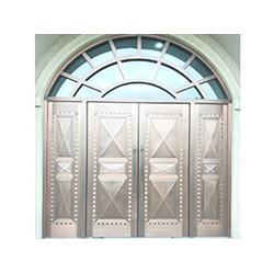 上海制作金属屏风隔断多少钱-供应上海质量好的不锈钢门图片