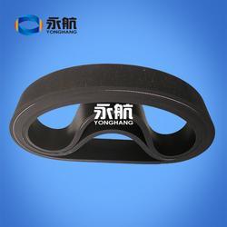 永航生产定做电缆厂专用两面平黑胶耐磨TQD电缆挤出机牵引履带图片