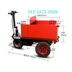 建筑公司专用电动手推灰斗车可以爬楼梯的履带运输车图片