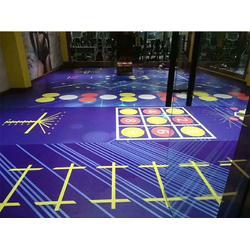 PVC运动地板施工-实惠好用的塑胶地板批售图片