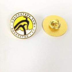 学校校徽,圆形填色徽章,金色胸章厂图片