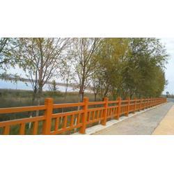 宁夏仿木围栏-恒雅园林景观实惠的仿木护栏出售图片