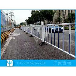 非机动车道路建设工程 公路中央护栏 面包管护栏安装图片