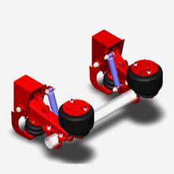 半挂车空气悬架半挂车悬架供应半挂车空气悬挂系统图片