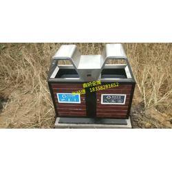 鑫妍镀锌板果皮箱 镀锌板内胆玻璃钢垃圾桶厂家图片