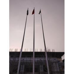 辽宁不锈钢锥形旗杆生产-太月星专业生产电动升旗机图片