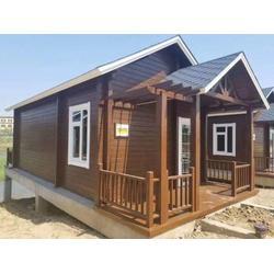 银川哪有供应优惠的宁夏防腐木木屋-呼和浩特防腐木木屋施工图片