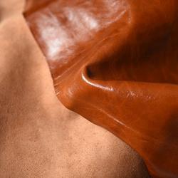 印度手抓纹胎水进口绵羊皮定制-同睿皮革图片