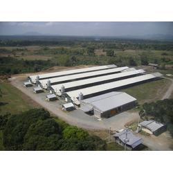 畜牧业专用油漆养殖场彩钢板代理商-上海哪里有卖质量好的首钢锌铝镁畜牧业专用彩钢板华蓝国际图片