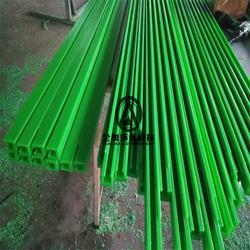 耐磨绿色尼龙导槽 滑动MC尼龙导轨 生产线塑料卡槽加工图片