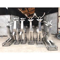 售楼部园林景观雕塑小品厂家设计定制 不锈钢鹿雕塑千姿百态效果图片