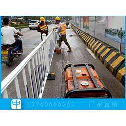 市政道路护栏升级工程 人行道护栏 面包管护栏隔离栅图片