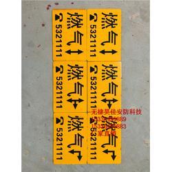 供应电力电缆地面走向牌 电力地面标志地贴图片