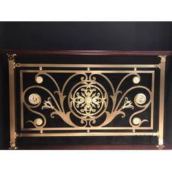铜艺楼梯扶手厂家-实惠的铜铝护栏要到哪买图片