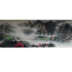 传统国风山水画作品展示-七星斋画廊为您提供山水画作品图片