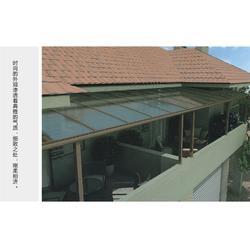 室内铝合金遮雨棚公司-知名的铝合金露台棚厂商图片