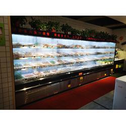 火锅店用不锈钢展示柜带喷雾多少钱图片