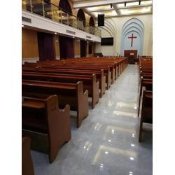 实木教会讲经台生产销售-教会讲经台-丽明家具只为教会生产图片