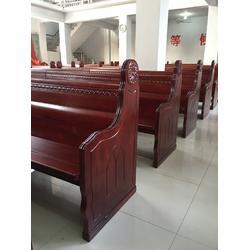 实木教会讲经台品牌-教会讲经台-丽明家具只为教会生产(查看)图片