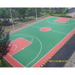 塑胶篮球场材料厂家-辉跃体育-上饶市玉山塑胶篮球场图片