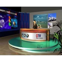 新媒体虚拟演播室建设企业直播演播室小型录播虚拟直播室全套建设图片