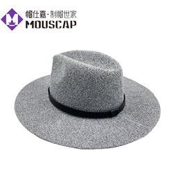 帽仕嘉帽子定制厂家女士冬季毛线帽子大沿定型帽腈纶针织帽图片