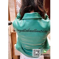 品牌折扣女装秋冬新款短款绵羊皮夹克外套免费挂件代销图片