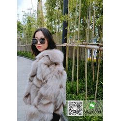 海宁厂家直销多量翻领狐狸毛大衣短款显瘦外套直播间货源图片