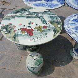 80cm陶瓷桌子凳子套装手绘瓷桌凳户外庭院桌椅一米加厚圆桌 修改 本产品属于商业贸易行为图片