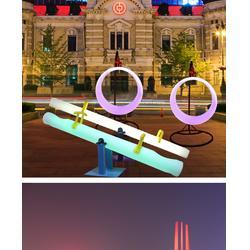 儿童乐园户外广场双人互动游戏道具跷跷板可控制发光图片
