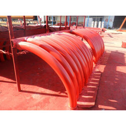 大连耐磨地泵弯头-沈阳市冲令泵管专业的混凝土输送弯头图片