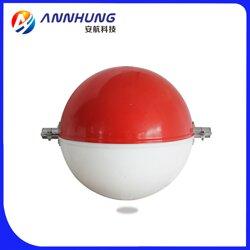 白色、全橙色、全红色、橙白双色、橙红双色标志球,航空警示球图片